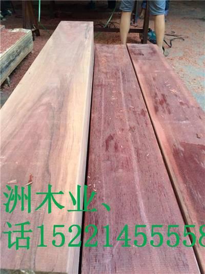 园洲木材加工厂专业生产菠萝格/非洲菠萝格/南美菠萝格