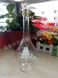 玻璃帆船酒瓶空心小船玻璃酒瓶异形内置小船酒瓶带船玻璃酒瓶