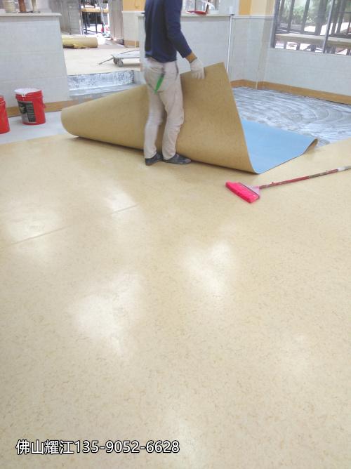 PVC膠地板工廠、佛山耀江PVC膠地板