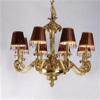 私人量身定制客厅 餐厅 书房 卧室法式脱蜡铜吊灯