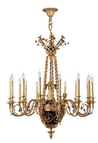 定制别墅高端法式全铜天使吊灯