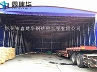 杭州上城區廠供應推拉擋雨遮陽蓬排檔移動蓬