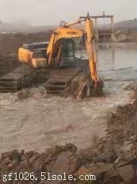 水陆两用挖机出租认准杨阳水利工程