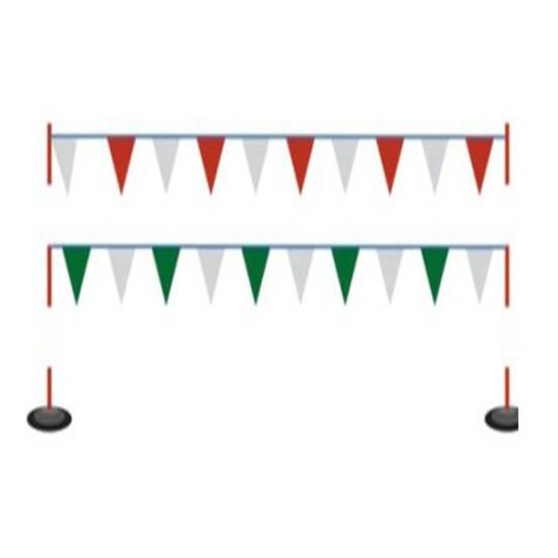 电力隔离安全围旗道路施工红白三角警示彩旗