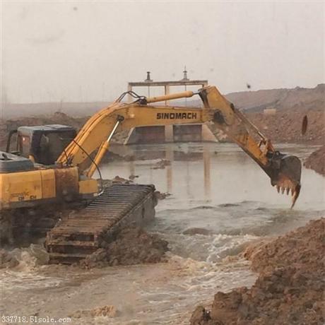 专业水上挖掘机出租厂家