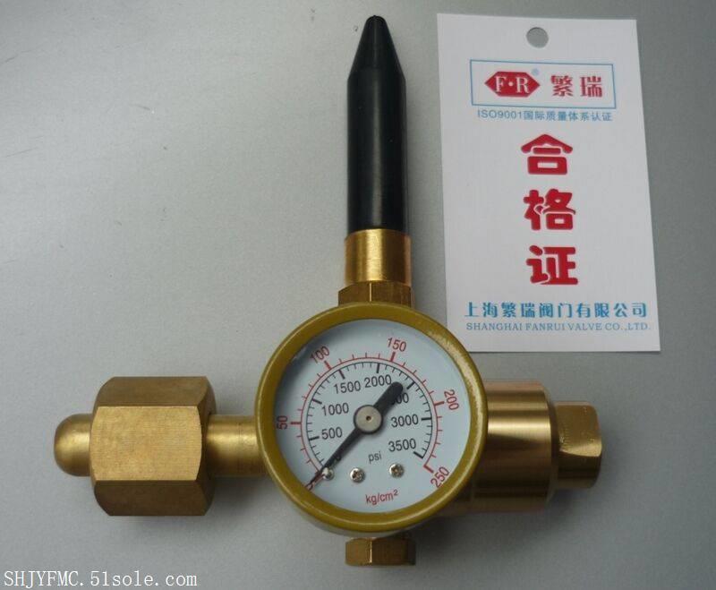 氦气充气球减压阀 230 全铜HE氦气减压调节器 钢瓶压力表繁瑞