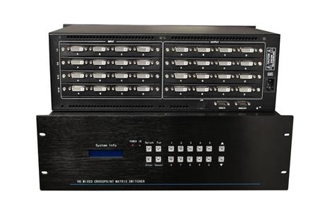 矩阵切换器 派尼珂24进24出高清DVI矩阵系统厂家