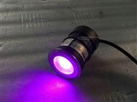 供应圆形75MM大3W单颗三合一外控DMX512控制LED埋地灯