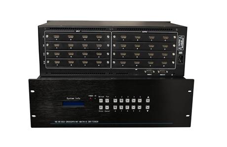 矩阵切换器 派尼珂16进16出HDMI切换器NK-MS6316HDMI