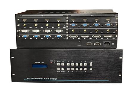 矩阵切换器 派尼珂16进16出高清无缝混合矩阵 NK-HD6316SHM
