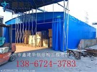嘉興定制推拉雨蓬樣品價格平湖大型倉庫雨篷保溫