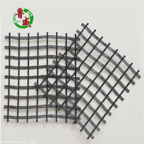 直销沥青路面玻璃纤维土工格栅 玻纤土工格栅价格规格到鲁威