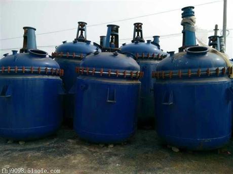 公司高价回收3吨淄博太极搪瓷反应釜