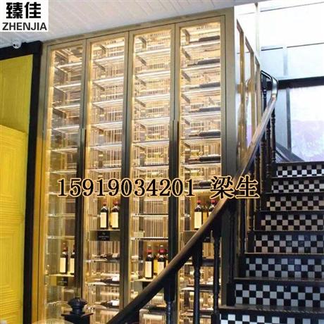 商场高端不锈钢酒柜红酒展示柜定制