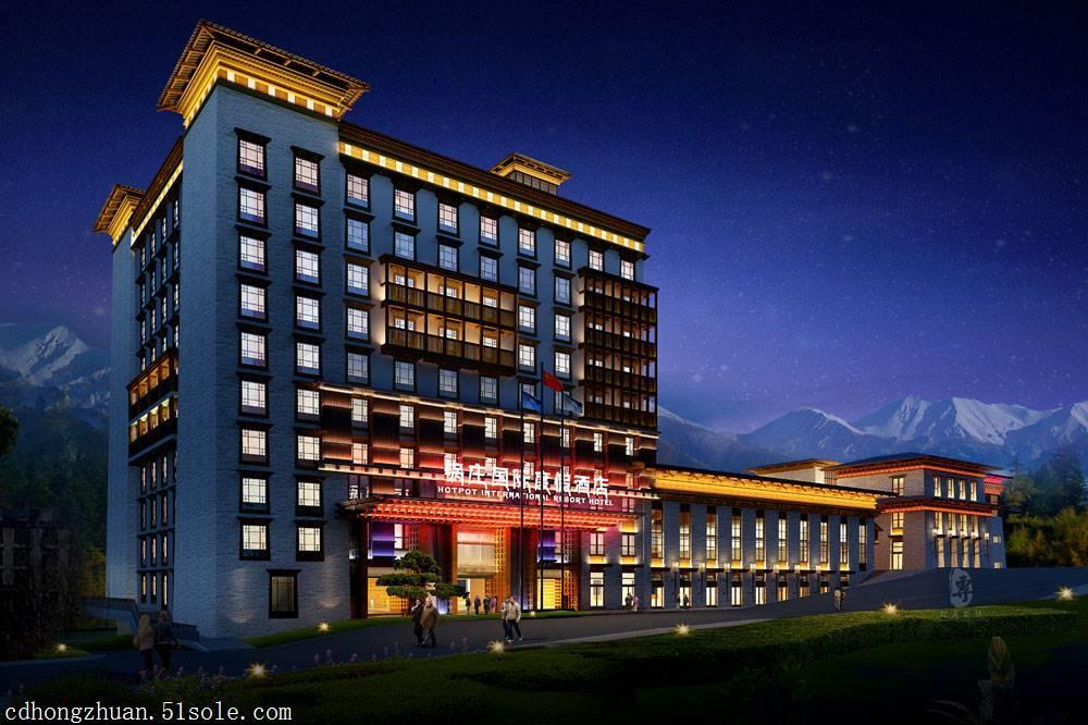 雅安酒店设计公司|康定锅庄温泉度假酒店
