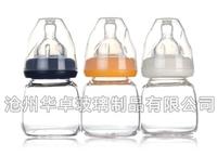 北京华卓玻璃瓶厂家高端高硼硅奶瓶销售价格 高硼硅玻璃奶瓶分类