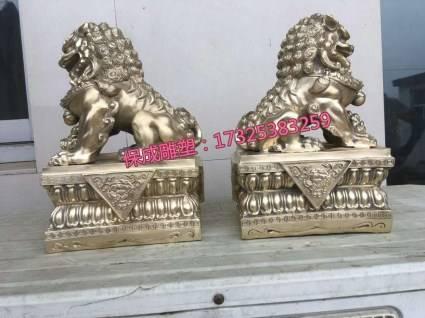 汇丰狮子故宫狮子铸铜雕塑动物雕塑加工定做