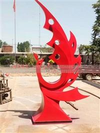 鴻景304型號不銹鋼鳳凰雕塑 抽象不銹鋼鳳凰雕塑加工廠