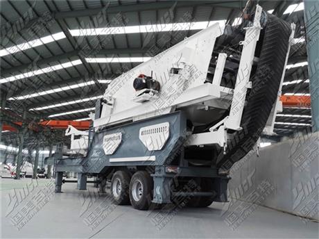 北京石料移动破碎机 建筑垃圾移动式破碎站设备