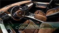 宝马X5内饰顶棚改装全景天窗 ,全车座椅缝纫真皮