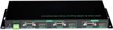 高清画面分割器 HDMI+VGA混合输入二画面分割器NK-302HQHDMI/VGA
