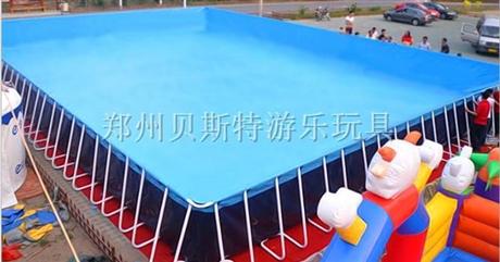 安徽阜阳支架游泳池厂家定做搭配新款充气水滑梯