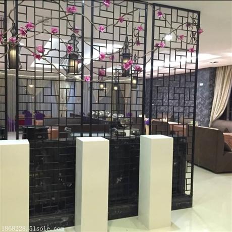 中式黑钛拉丝不锈钢花格定制生产厂家