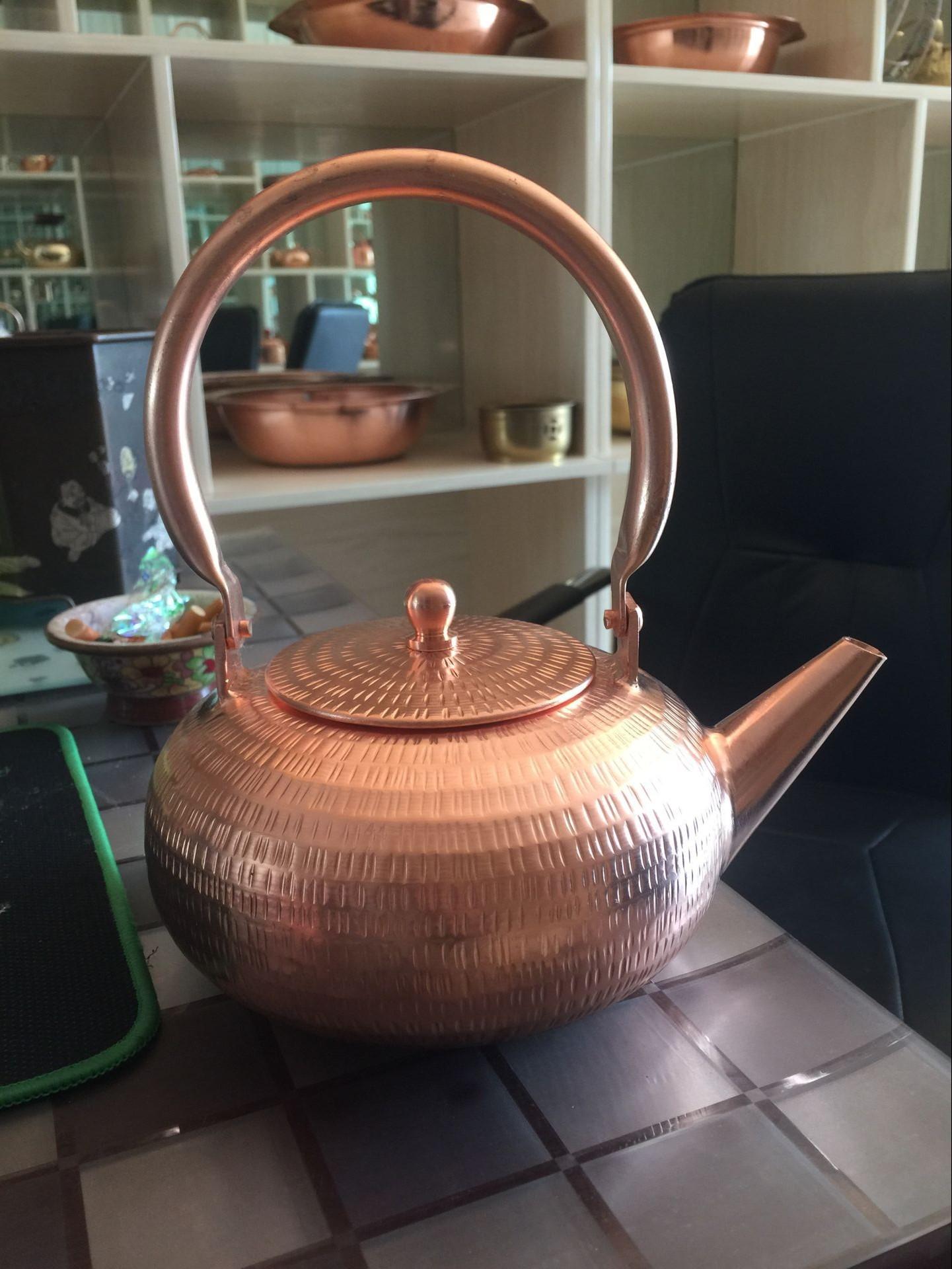 铜火锅 水壶 紫铜水壶 手工铜壶 茶水壶