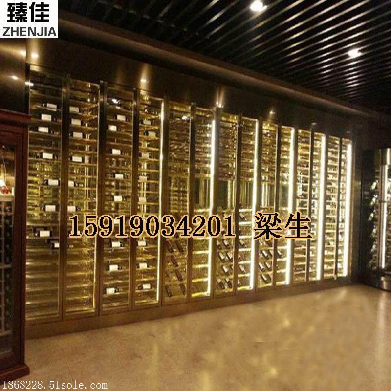 酒店酒窖精美恒温不锈钢酒柜尺寸任意定制