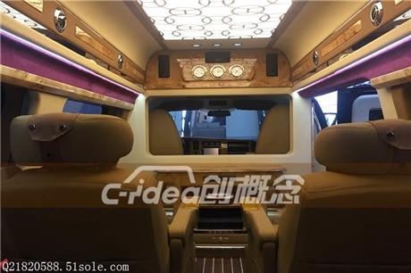 GMC商务车改装内饰升级,加装豪华桃木装饰柚木地板