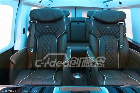 GMC商务房车内饰定制改装,隔断内饰豪华电动座椅