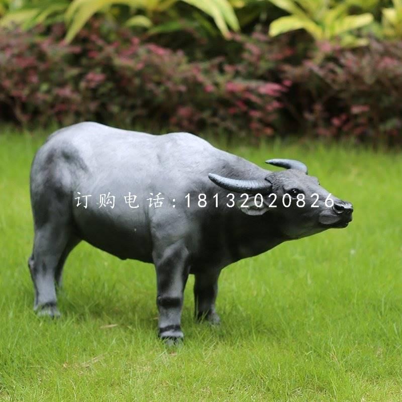 玻璃钢仿真水牛公园动物雕塑