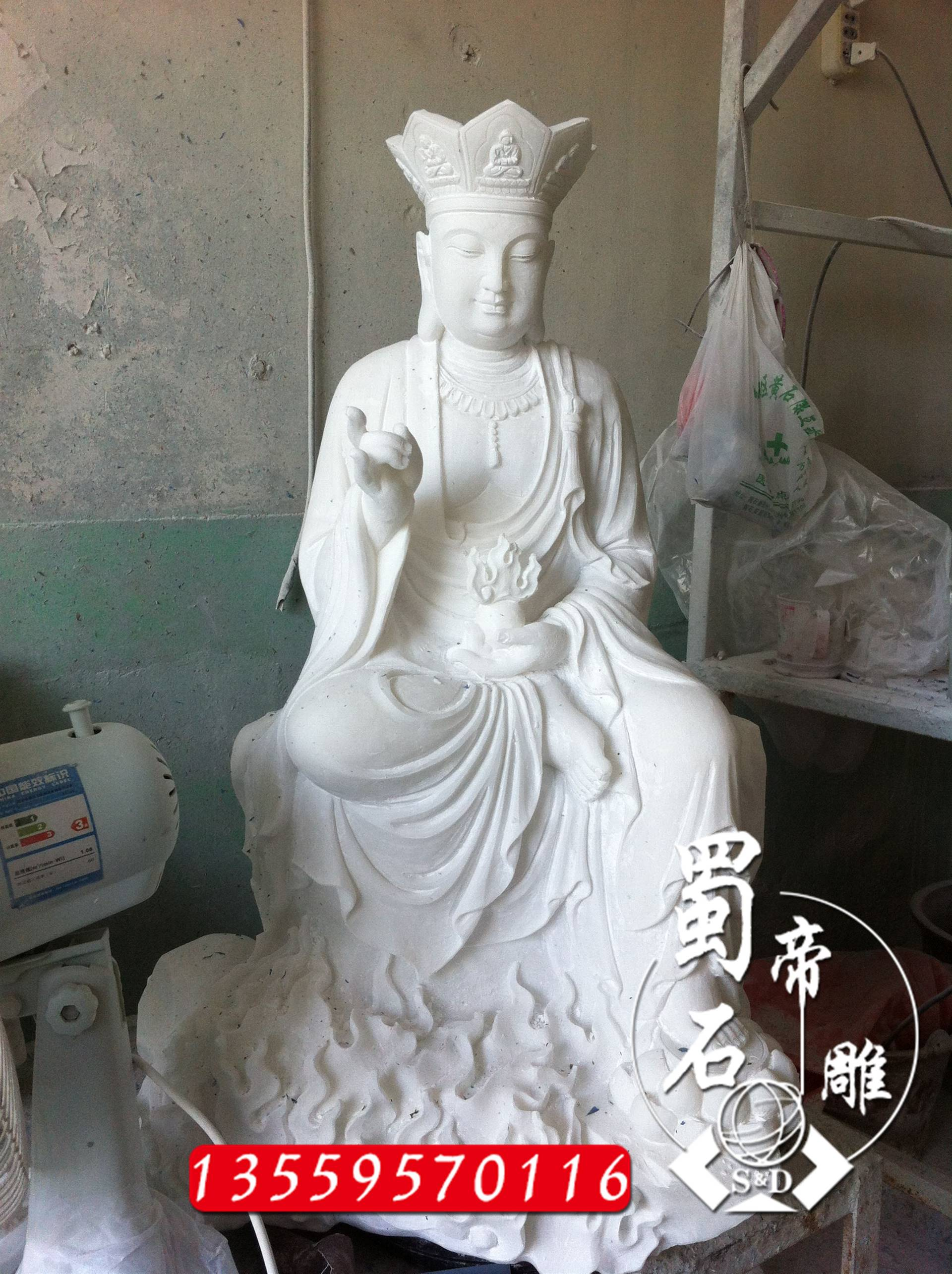石雕地藏王菩萨佛像 寺庙人物雕像 地藏王菩萨雕刻