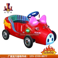 厂家直供广场儿童QQ游乐车广场公园首选好好玩QQ猪电瓶车定时遥控