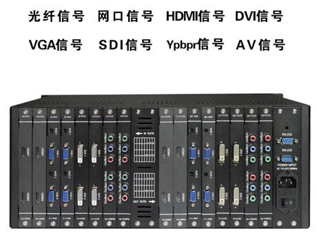 矩阵切换器 派尼珂无缝拼接VGA/DVI/AV音视频混插矩阵处理器
