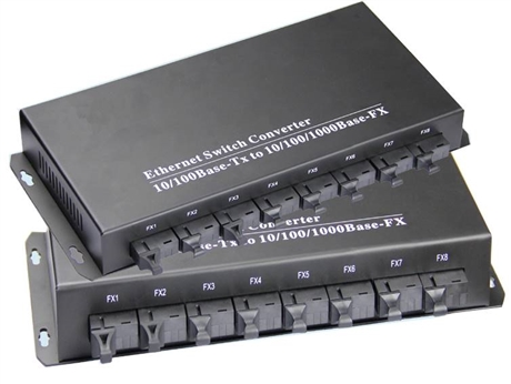 8个百兆光口2千兆电口汇聚型光纤交换机NK-CFS802-1000M