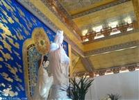 中式藝術彩繪吊頂寺廟宗祠橫梁板