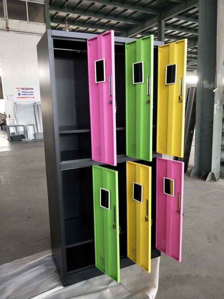 湖北学生储物柜厂家,专业定做彩色储物文件柜大图