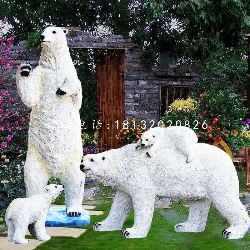 仿真北极熊雕塑玻璃钢动物雕塑