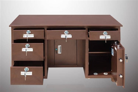 鼎鑫保险柜桌子现货供应专业定做保险桌的工厂
