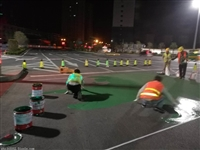 河南省彩色陶瓷防滑路面