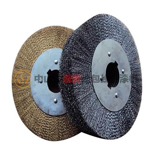 通彩钢丝轮 平行钢丝轮 钢丝滚筒刷 不锈钢丝轮 广东钢丝轮厂家