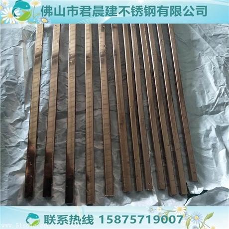 6米玫瑰金不锈钢方管35*35*0.9玫瑰金不锈钢圆管35