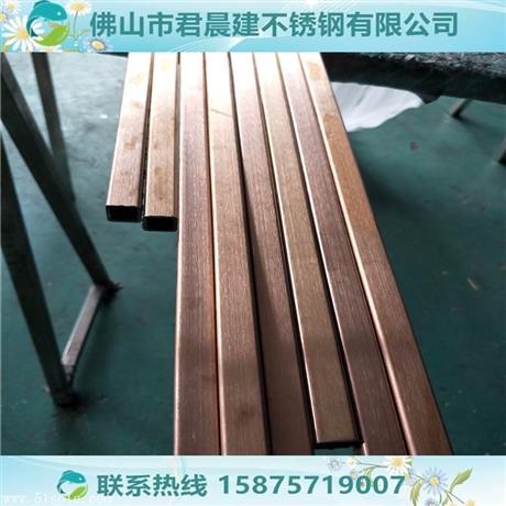 黄钛金不锈钢方管6米*10*10钛金不锈钢管