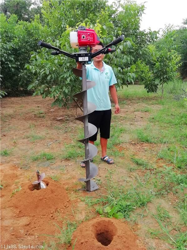 栽杆打洞的电线杆挖坑机轻便钻孔