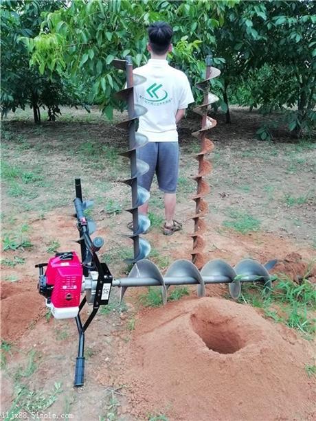 小型挖坑机掏桩挖土效应