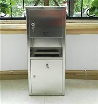 304不锈钢2合1组合式擦手纸箱75cm高 附带垃圾?#25170;?#20837;式安装 厂家