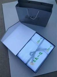 三好厂家定做纯棉16螺旋铂金缎绣花毛巾三件套礼盒包装
