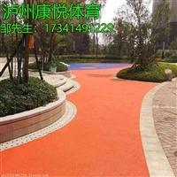 泸州EPDM球场施工 环保橡胶颗粒地坪铺设 小区公园彩色地胶