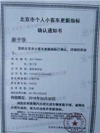 买一个北京公户车指标多少钱